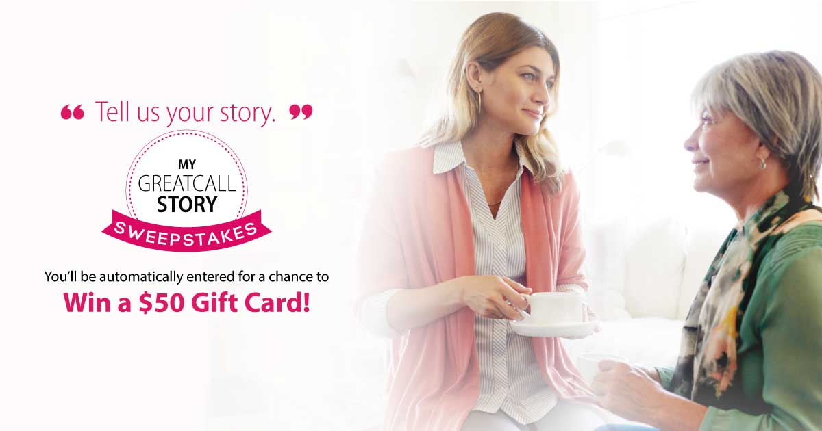 Enter to win a $50 dollar gift card from GreatCall